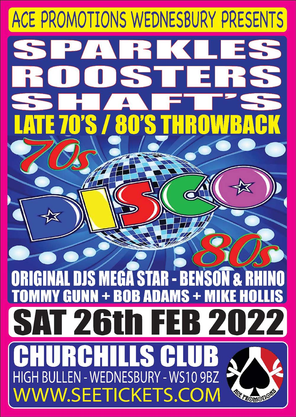 Sparkles / Roosters / Shaft's – Late 70's 80's Throwbacks
